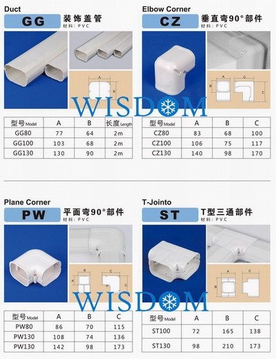 Duct Plastic Cover Duct Slim Duct Wall Cover Qingdao
